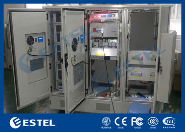 Galvanized Steel Integrated Base Station Cabinet , Outdoor Server Cabinet