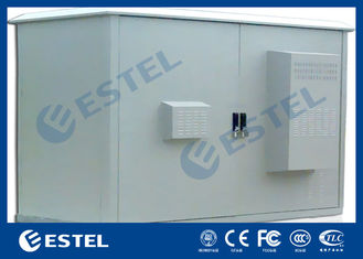 Two Compartment Cooler Outdoor Communication Cabinets Assembled Structure IP55
