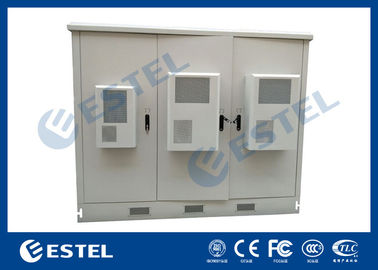 Outdoor Telecom Assembled Base Station Cabinet Hot Dip Galvanized Steel Material