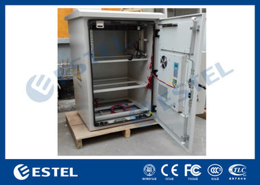 Pole Mounted Outdoor Power Cabinet , Telecom Equipment Cabinet With DC Air Conditioner
